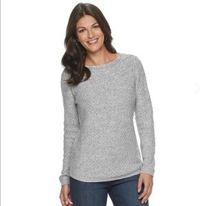 Croft & Barrow Cable boatneck sweater